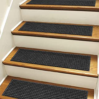 Orvis Recycled Water Trapper Grid Stair Treads, Set of Four/Only Recycled Water Trapper Grid Stair Treads, Set of Four, Charcoal