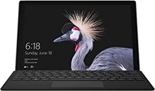 Microsoft Surface Pro with Black Type Cover, Model 1796 (HGG-00001) Intel Core M, 4GB RAM, 128GB SSD, 12.3-in Touch Screen, Win10 Pro