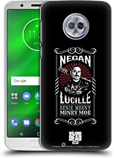 Official AMC The Walking Dead Lucille Negan Biker Art Hard Back Case Compatible for Motorola Moto G6