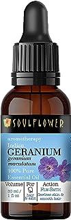 Soulflower Indian Geranium Essential Oil, Pure Undiluted, Natural & Safe,Vegan & Organic, Aromatherapy,BONUS Glass Droppe...