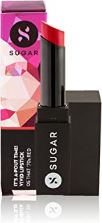 SUGAR Cosmetics It's A-Pout Time! Vivid Lipstick 05 That '70s Red (Red), Long Lasting Creamy Matte Lipstick For All Complexions, 3.5 g