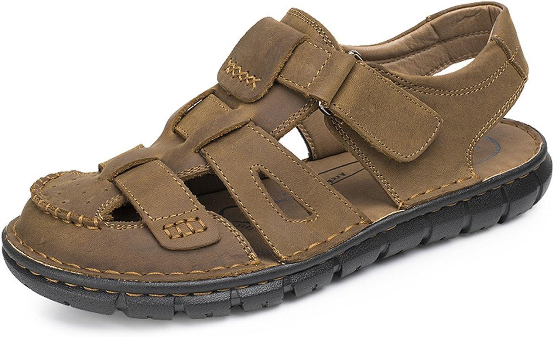 LXIE Pakamo Herren Ledersandalen Fischer Beach Schuhe mit Klettverschluss Leichte Leichte Leichte geschlossene Toe Wasserschuhe für Outdoor Trekking Wandern Klettern, EU40 6e7ff0