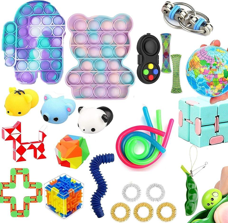 Tik Tok Fidget Spielzeug Packung Sinnes Fidget Spielzeug Blase Spielzeug Druck Anxiety Relief Spielzeug Set für ADD OCD autistische Kinder Erwachsene Angst Autismus