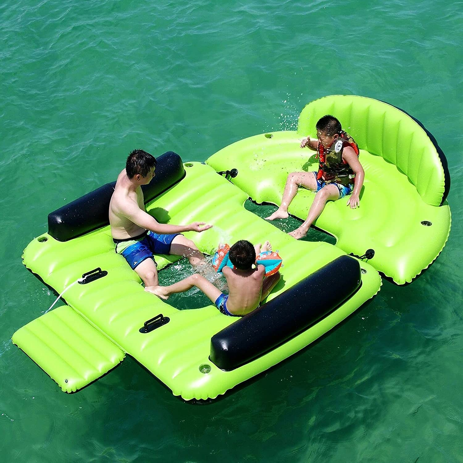 HUIJK Floating Island Inflatable with 6 PRS Max 53% OFF discount Raft