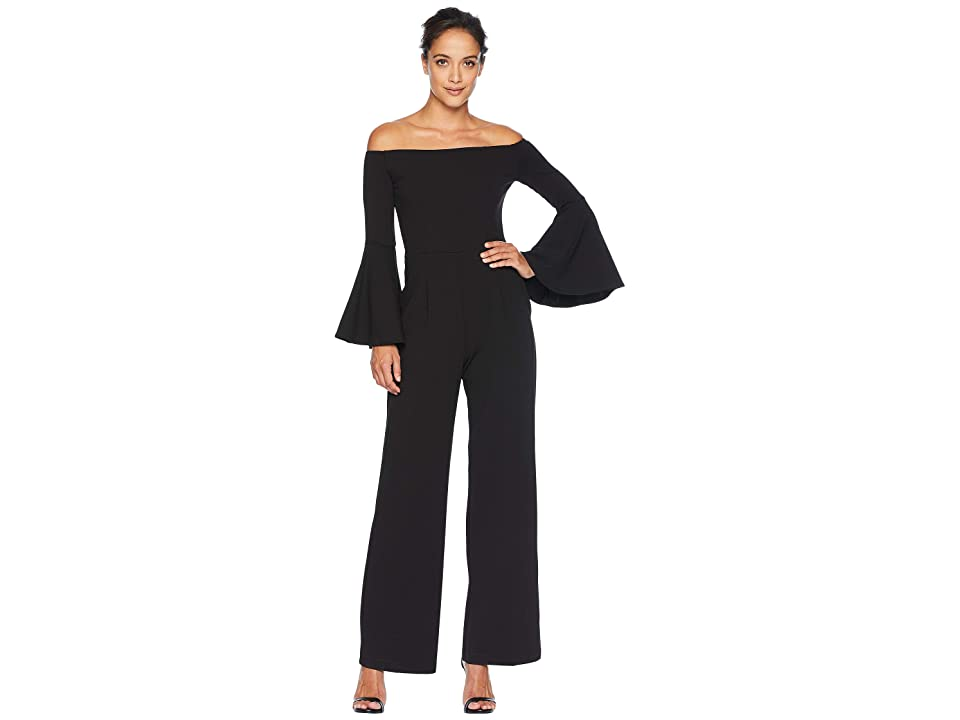 ALEXIA ADMOR Ruffle Sleeve Off the Shoulder Jumpsuit (Black) Women's Jumpsuit & Rompers One Piece