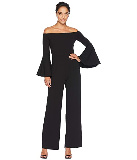 ALEXIA ADMOR Ruffle Sleeve Off The Shoulder Jumpsuit, Black