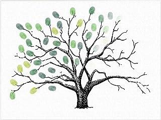 LIOOBO Árbol de Huellas Dactilares Creativas Invitado DIY Sign-in Pintura de Huellas Dactilares para cumpleaños de Banquete de Boda