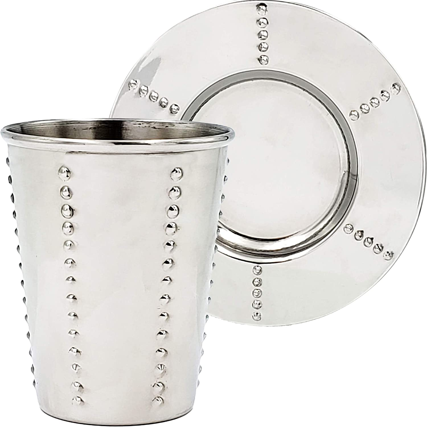 Kiddush Cup Stainless Steel with Max 74% OFF Matching Shabbos H Saucer For outlet