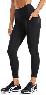 CRZ YOGA Women's Naked Feeling Workout Leggings High Waisted Yoga Capri Leggings with Pockets -21 Inches