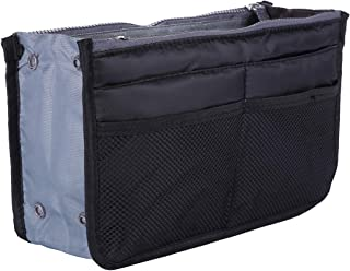 Purse Organizer Insert Handbag,Lady Women Travel Liner Felt Bag in Bag (13 Pockets Medium Size)