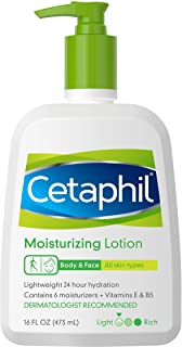 CETAPHIL Moisturizing Lotion | 16 fl oz | Instant & Long Lasting 24 Hour Hydrating Moisturizer for All Skin Types | Nouris...
