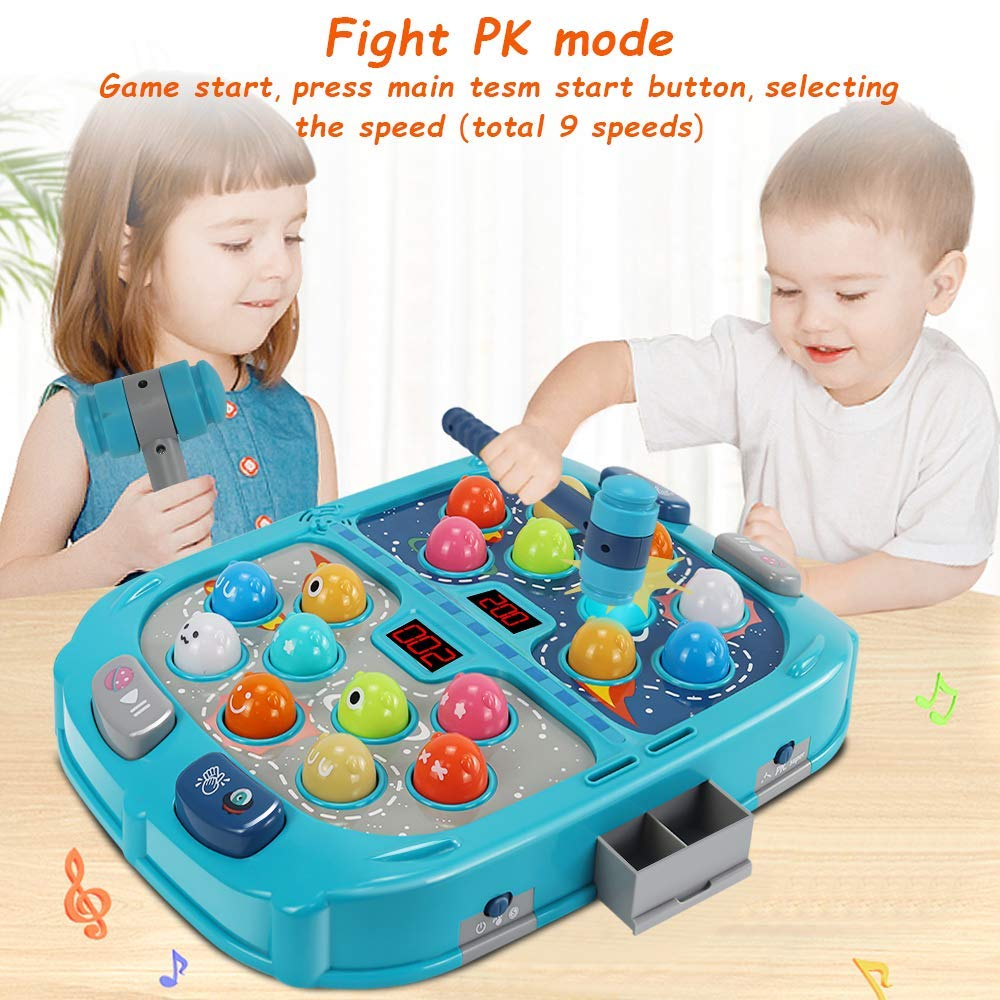 Whack A Mole Game, Toys for 3 4 5 6 Year Old Boys, 16X12 Inch Large Size, PK...