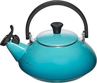 Le Creuset Q9213-17 Enamel-on-Steel Zen 1-2/3-Quart Teakettle, Caribbean, 1.6 Quart