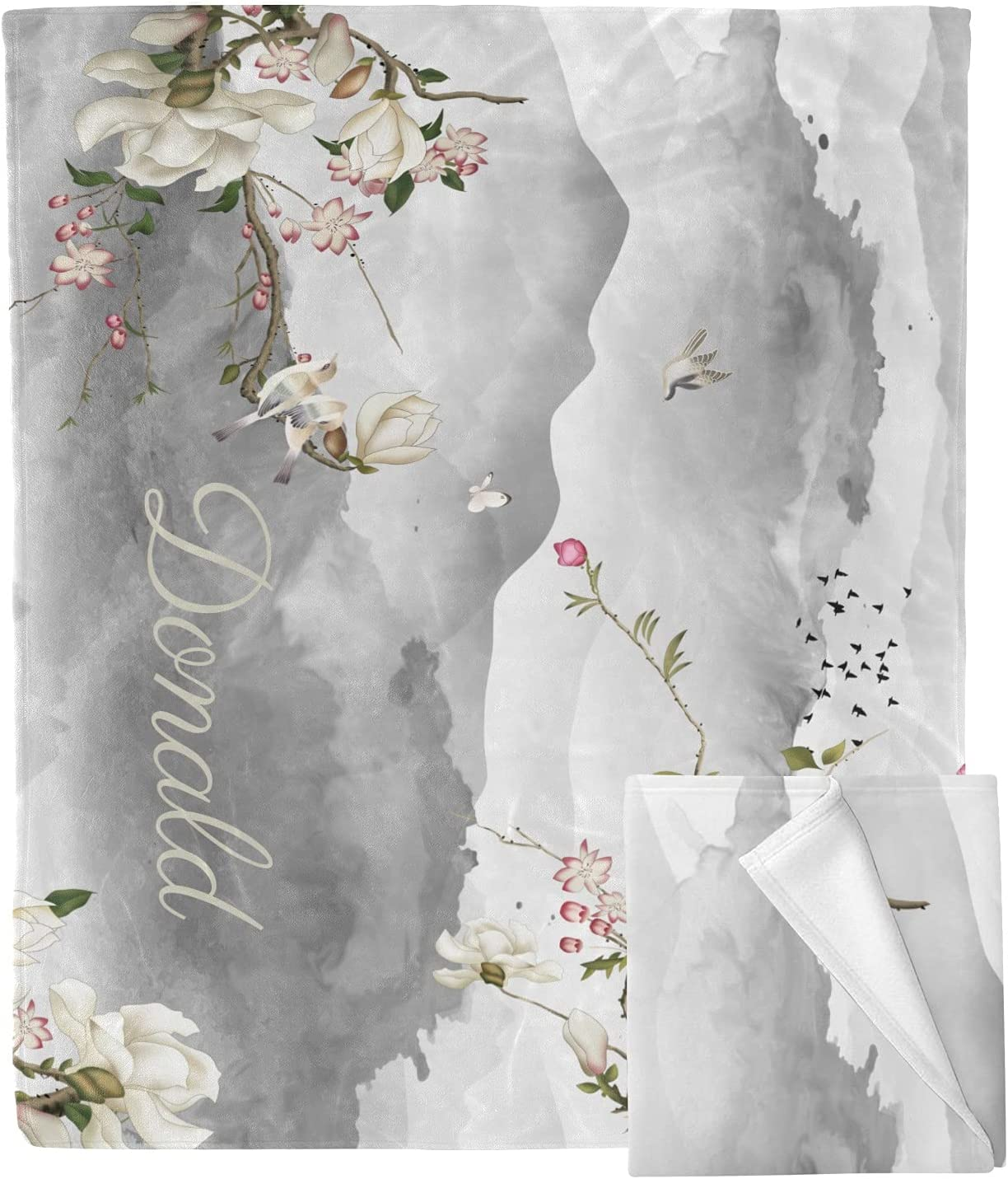 Personalized Mountain Hills Tree Branches Custom B Ranking TOP10 Blanket Throw New mail order