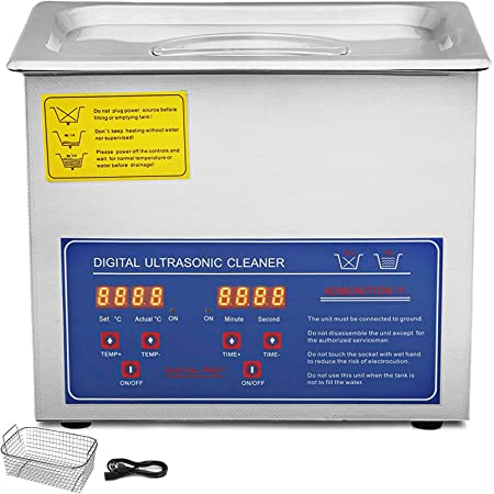 Vevor Jps 20a Ultrasonic Cleaner 3l Cleaner Ultrasonic Cleaner Ultrasonic Cleaner Stainless Steel With Digital Display For Jewellery Glasses And Teeth Business Industry Science