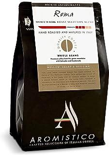 AROMISTICO   Finest Smooth Aroma Medium Roast   Premium Italian Roasted Whole COFFEE BEANS   ROMA BLEND For Pour-Over Dri...