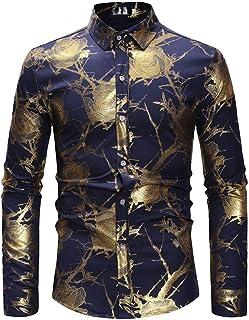 Camisa Para Hombre Larga Manga Negro Moda Casual Lino Tamaños Cómodos Blusa Básica Top La Solapa Camisetas De Ajuste Regul...