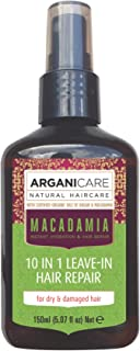 Arganicare 10 in 1 Repairing Leave In Conditioner Enriched with Organic Macadamia and Argan Oils 5 fl. Oz.