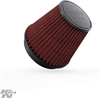 K&N Universal Clamp-On Engine Air Filter: Washable and Reusable: Round Tapered; 6 in (152 mm) Flange ID; 6.5 in (165 mm) Height; 7.5 in (191 mm) Base; 5 in (127 mm) Top , RF-1042