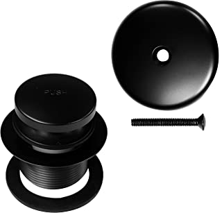 Westbrass Tip-Toe Coarse Thread Tub Trim Set with 1-Hole Overflow Faceplate, Matte Black, R93-62