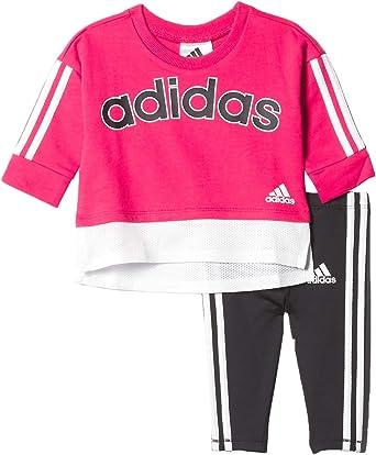 adidas baby-girls Li'l Sport Long Sleeve Top & Leggings Clothing Set