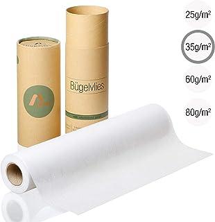 Amazy Fieltro para manualidades (blanco | 35 g / m2) – Rollo de fieltro adhesivo ideal para reforzar ropa, mantas y bolsas, para aplicaciones y para patchwork (9 x 0,4 m)