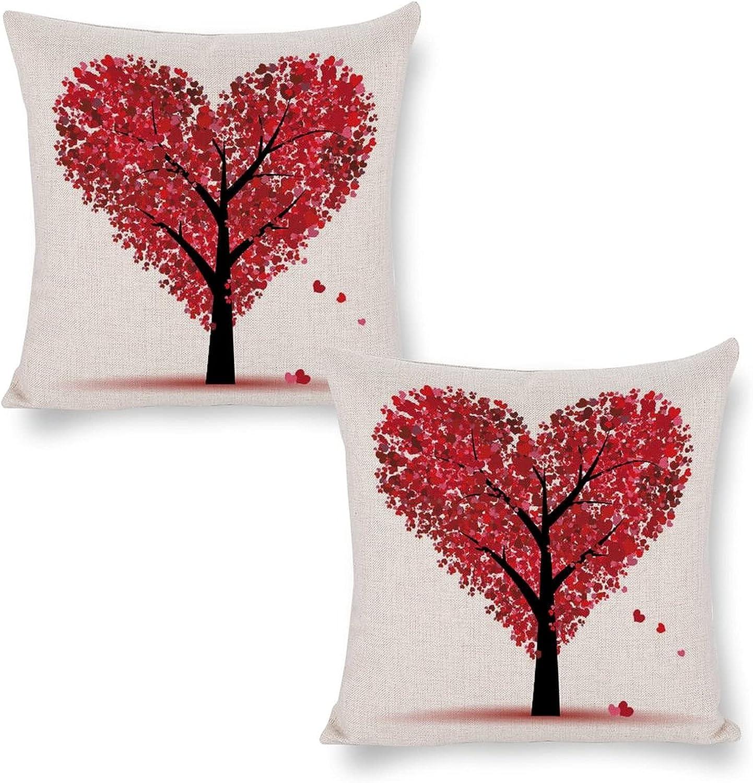 Nashville-Davidson Mall Cheyan Set of 2 Soft Comfortable Cotton Linen Pillow Atlanta Mall Cover Throw