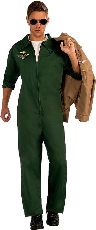 90s Outfits for Guys | Trendy, Party, Cool, Casaul Forum Novelties Mens Aviator Jumpsuit Pilot Costume  AT vintagedancer.com