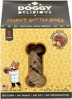 Doggie Delirious Dog Bone Peanut butter, 16 oz
