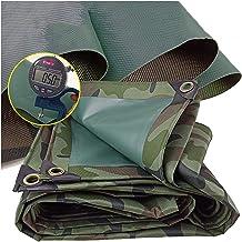 GDMING pvc-geteerd zeildoek, waterdichte zware camouflage plastic doek voor outdoor weerbestendige stofdichte hoes, 13 mat...