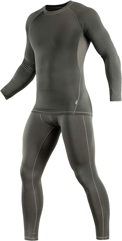 M-Tac Thermal Underwear Set for Men Base Layer Fleece Lined Top & Bottom Ultra-Soft