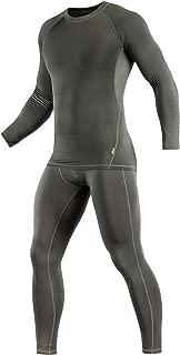 Thermal Underwear Set for Men Base Layer Fleece Lined Top & Bottom Ultra-Soft