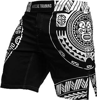 Short Men's Ta Moko Black Cage Fight Sport MMA UFC Pantalones Cortos MMA BJJ Fitness Hombre