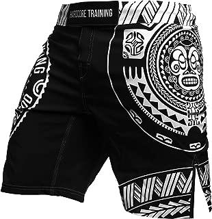 Hardcore Training Kids Boxing Shorts for Boy Ta Moko Black - Fighting Fitness BJJ Wrestling Active