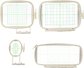 4 in 1 Embroidery Machine Hoops Set for Brother PE-700, PE-700II, PE-750D, PE-780D, Innovis 1000, Innovis 1200 Innovis 1250D, PC-6500, PC-8200, PC-8500, PC-8500D