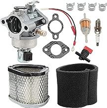 Harbot LT160 Carburetor for John Deere GT225 LX255 LX266 AM132199 AM132033 Tractor Kohler CV460S Engine with GY20661 Air Filter Tune Up Kit