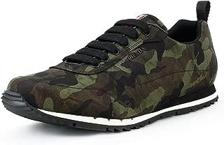 Prada Men's Nylon Camo Sneaker, Military-Green Camo 4E3220