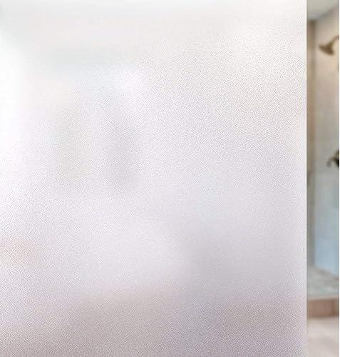 rabbitgoo Película de privacidad para ventanas, revestimiento de vidrio adhesivo estático opaco coloreado decorativo ...