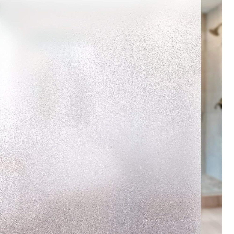 致命的なインターネット実験Rabbitgoo 窓 めかくしシート 窓ガラス目隠しシート 窓用フィルム マドピタすりガラスシート 曇りガラスフィルム 不透明目隠し 水で貼ってはがせる 貼り直し可 UVカット紫外線対策 飛散防止防犯防災 日よけ 断熱結露防止 浴室 お風呂 食器棚 まど小窓の硝子飾りサッシシール 磨りガラスふぃるむ 網入りガラス適用(艶消し白 44.5 x 200cm)