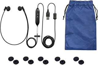 Spectra USB PC Stereo Transcription Headset with extra 5 pair Antimicrobial Ear Cushions