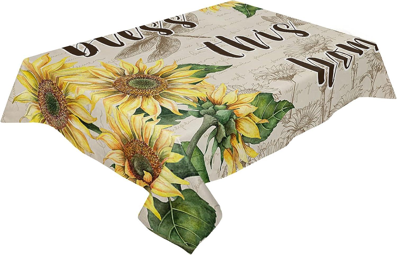 Kitchen Tablecloth Decorative Albuquerque Mall Table Cover Cotton Washable Linen Max 43% OFF