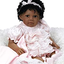 Paradise Galleries Reborn African American Black Toddler Doll Chantilly, 20 inch Weighted Girl in GentleTouch Vinyl, 6-Piece Set