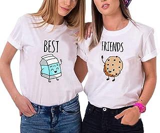 Best Friends BFF T-shirt pour femme avec inscription /« Beste Freunde /»