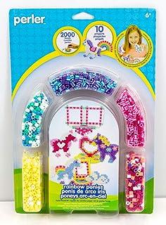 Perler Beads Rainbow Pony Fused Bead Kit Beads for Girls, 2000 pcs