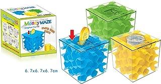 Studyset Transparent Honeycomb Labyrinth Piggy Money Bank Magic Cube Crystal Inverted Bead Storage Money Maze Piggy Bank