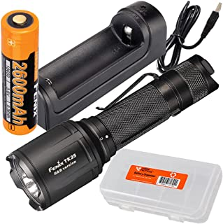 Image of Fenix TK25 R&B 1000 Lumen Multi-Color Red & Blue LED Tactical Hunting Flashlight Rechargeable Battery, are-X1 Single-Port Charger, LumenTac Battery Organizer