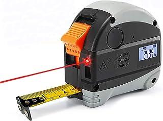 巻き尺,多功能 测距仪,卷尺 最大测量距离40米 量尺5米 测定 紧凑 连续测量 自动 计算 USB 充电 IP54防 水防尘 多功能 测距仪