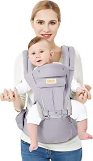 3D Baby Hip Carrier All Season Baby Sling with 9 Carry Positions Truly Hands-Free for Easy Breastfeeding, No Infant Insert Needed, One Size Fits All -Adapt to Newborn, Infant & Toddler, Great Hiking