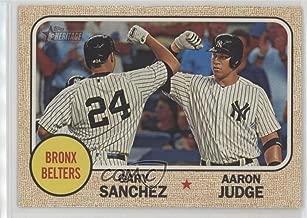 Aaron Judge; Gary Sanchez (Baseball Card) 2017 Topps Heritage High Number - Combo Cards #CC-2