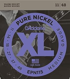 D'Addario EPN115 Pure Nickel Electric Guitar Strings, Blues/Jazz Rock, 11-48